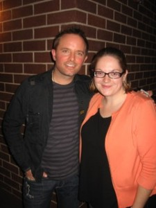 Me and Chris Tomlin - likely one of the worst pics of me ever!