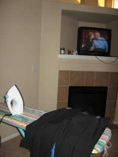 After the walk and dinner did some ironing while watching The Biggest Loser Finale. That show makes me cry.