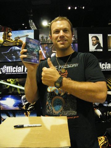 It 39s Adam Baldwin Holding a copy of my book He 39s holding MY BOOK