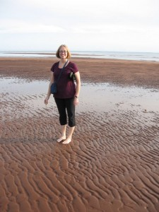 Hannah on the rippled sand