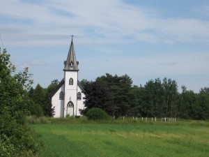 Love this little church that we passed on our way from West Point to North Rustico