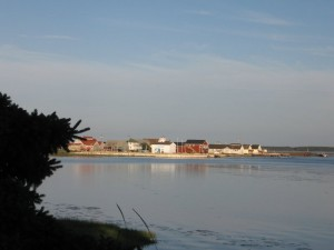 A view of Rustico across the harbor