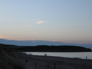 The North Rustico beach at sunset