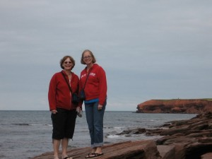 Mom and Hannah--queens of the rock!