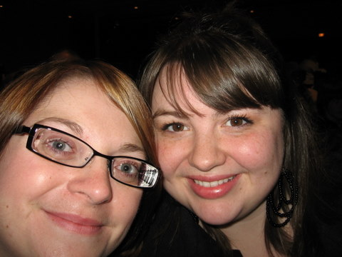 Amy (on the rt.) and me at a Brandon Heath concert