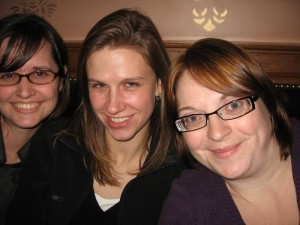 Jess Barnes, Jess Lacy, and me at the Golden Bee just before I left Colorado Springs.
