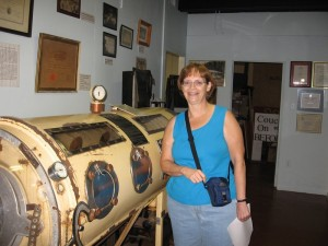 The museum had plenty of historical pieces, including this iron lung