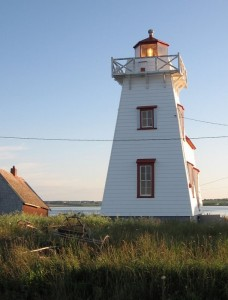 The lighthouse at the end of the boardwalk